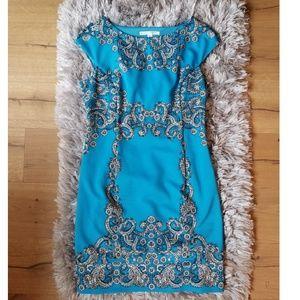 Maggy London Scuba Shift Dress, Size 16